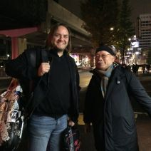 Konstantin and Akira Sakata, after gig in Super Deluxe, Tokyo